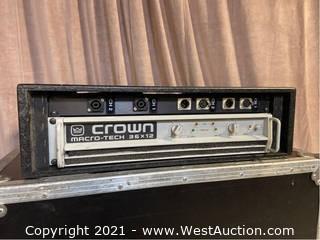 Crown Macro-Tech 36x12 Amplifier, Custom Connector Panel in Wood Rack