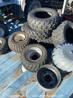 Bulk Lot; ATV wheels and Tires