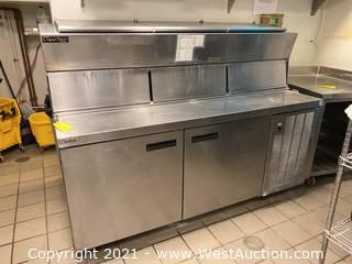 Delfield LiquiTec Refrigerated Pizza Prep Table