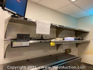 (2) Stainless Steel Wall Mounted Shelves