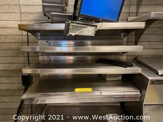 "(4) 32""x15"" Stainless Steel Wall Mounted Shelves"