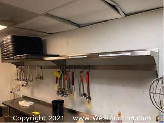 Stainless Steel Wall Mounted Shelf and Contents