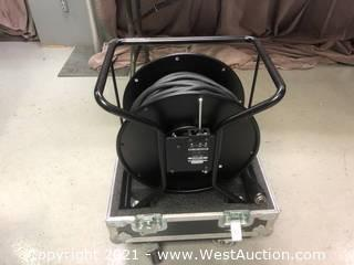 (2) 150' Sony Camera 26 Pin Cables and Reels with Road Case