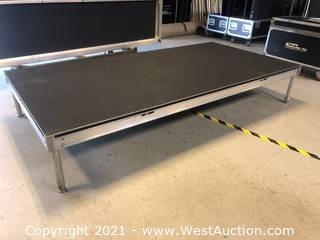 4'x8' Staging Dimensions Rubber Top Stage Deck With Various Leg Sizes