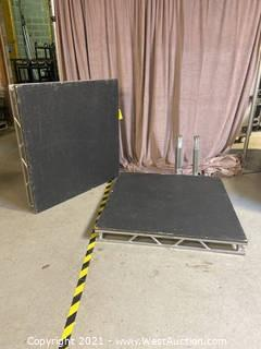 "(2) 4'x4' Stage Decks With (8) 24"" Legs"