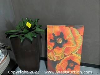 Plant, Pot and Wall Art