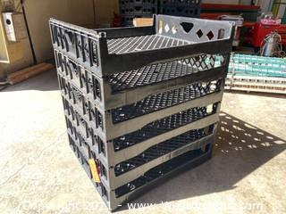 (6) Plastic Stackable Trays