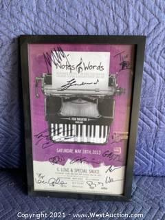 Framed And Autographed Poster With Box And Shirt -  G. Love