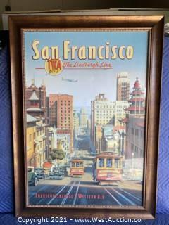 TWA / San Francisco Framed Art Piece