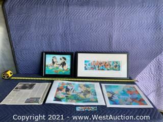 Lot Of Prints Alynn Mags Hawaiian Prints- Autographed