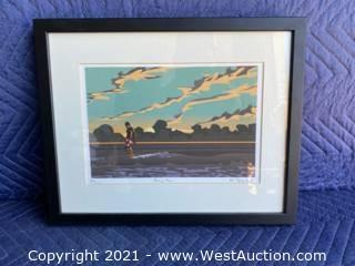 """""""Hang Ten"""" By Mike Field - Signed And Framed"""