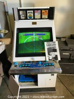 Neo Geo MVS Arcade System / Cabinet With 5 Games - Candy Cabinet
