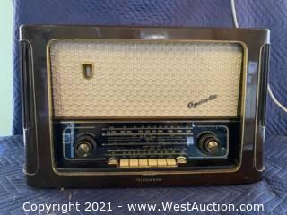 Tube Radio Telefunken Operette 6 - German Approx 1955/56
