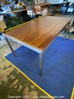 """Walnut """"Room And Board"""" Table Parsons 60""""x36"""""""