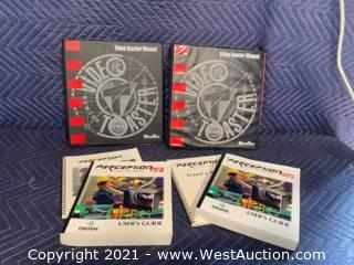 Spare Amiga Floppy Drive And Software Manuals Video Toaster - Perception PVP