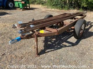 11' Metal Trailer With Beams