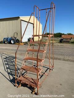 5' Warehouse Rolling Ladder