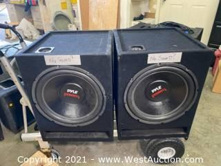 Pair - Custom Speaker Boxes With Pyle Speakers