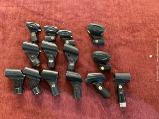 14 Assorted Microphone Clips
