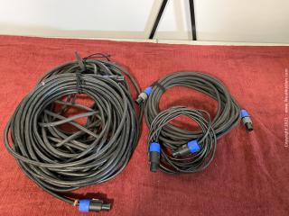 (4) Speakon To Speakon Cables