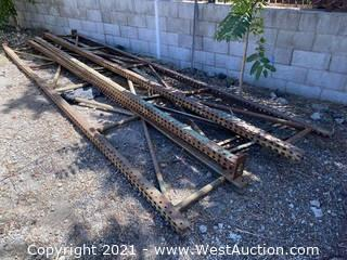(4) Pallet Racking Uprights - 16' x 2'