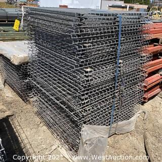 (37) 3-channel Wire Mesh Decking for Pallet Racking