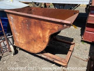 Rolling Metal Forklift Dump Bin