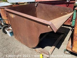 Metal Forklift Dump Bin