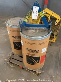 (2) New Drums Of Lincoln MC-706 Welding Wire