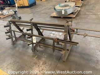 (6) Heavy Duty Clamps And Storage Rack