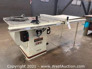 """Jet 10"""" Tilting Arbor Saw Xacta Saw Deluxe Table Saw"""