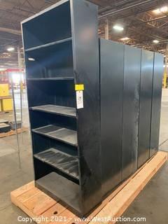 6' Storage Shelve & Lockable Cabinet