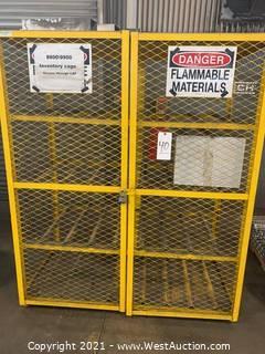 Expanded Metal Lockable Storage Cage