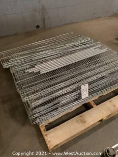 Pallet Of Wire Racking And (2) Metro Racks