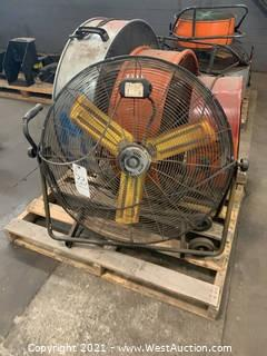 Pallet Of (7) Assorted Fans