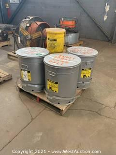 (5) Oil Waste Cans