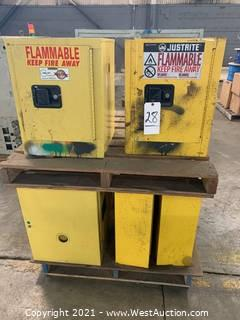 (7) Small Fire Cabinets