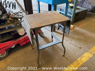 Metal Table On Wheels