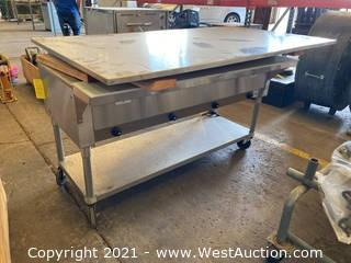 Advance Tabco HF-4E-120 Hot Food Table With Stainless Steel Table Top