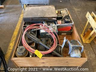 Crate With Various Tools And Hardware