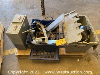 Pallet Of Machine Parts, Electronics, And More