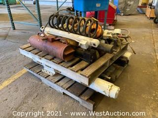 (2) Pallets Of Hydraulic Parts, Tools, Coils, And More