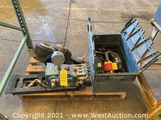Pallet Of Pump Parts, Electronics, And More