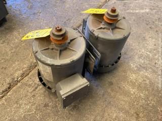 (2) WEG 3 H.P. Motors