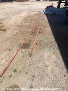 (2) Metal Stairway Railings