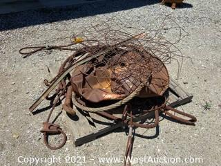 Pallet of Scrap Metal Cable and Materials