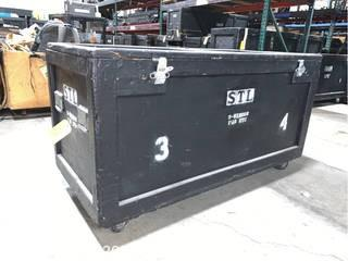 Wooden Road Case With Stage Lights
