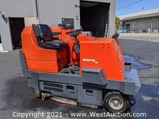 PowerBoss Monitor 90 Sweeper/Scrubber (Ride-On Sweeper Scrubber & Water Recovery Tractor)