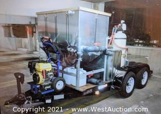 Cereylit Oil and Water Separator Custom Built for Environmentally Sensitive Projects with Mounted Pressure Washer on Tru Trailer