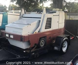 PowerBoss TSS/85 (Ride-On Scrubber Sweeper) (Trailer Not Included)